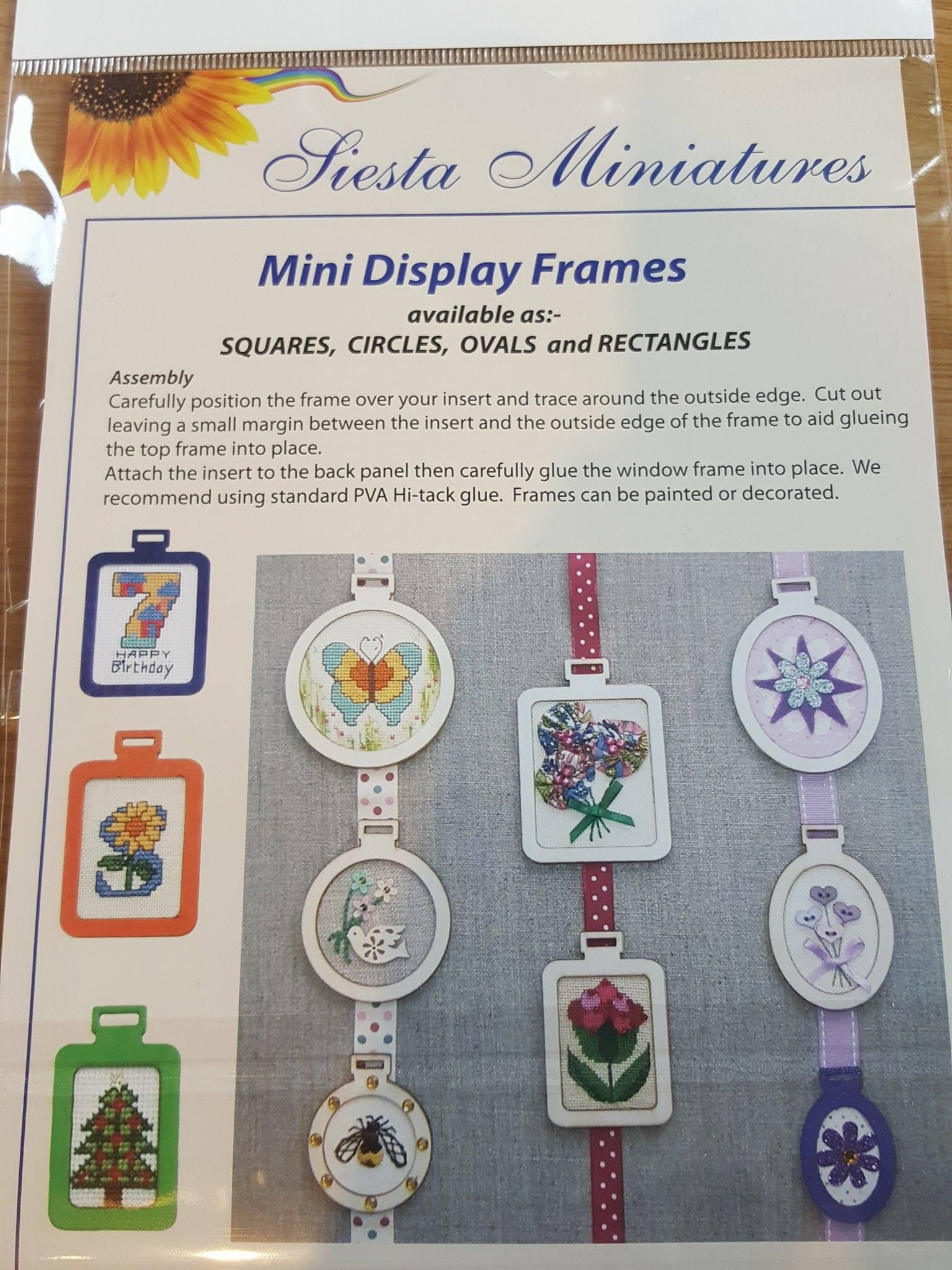mini wooden circle display frames - Mini Photo Frames